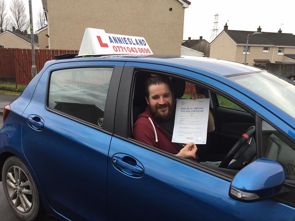 Lawrence Garvey successfully passed their driving test with Anniesland Driving School