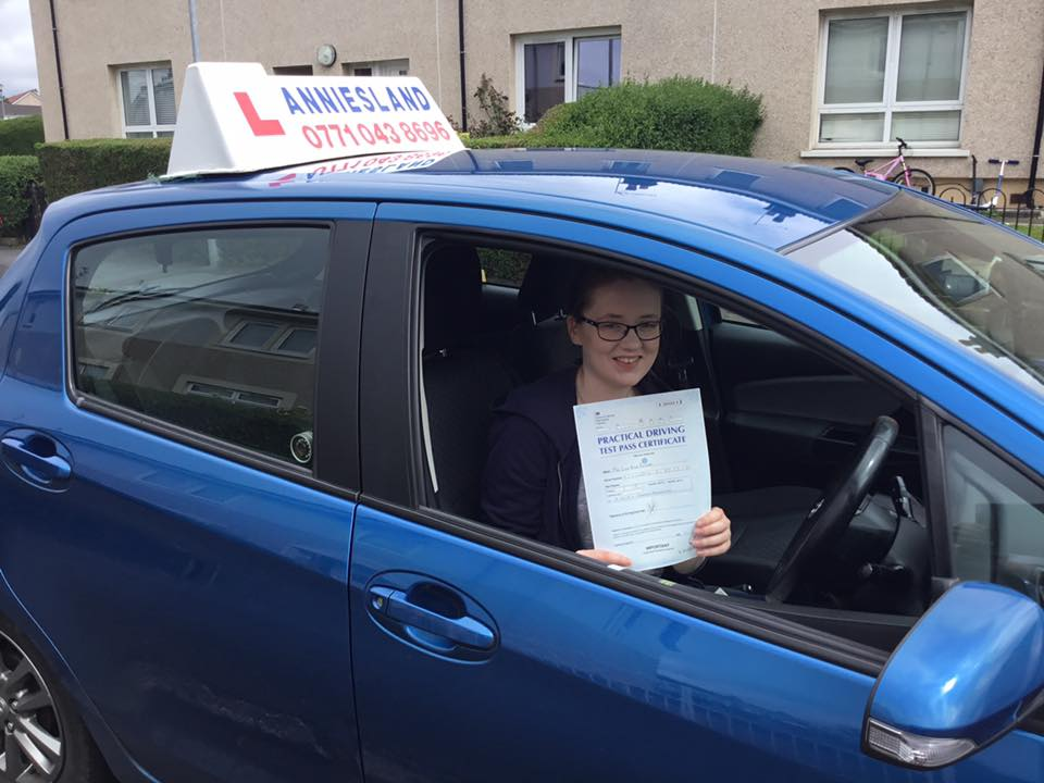 Lisa Bonner successfully passed their driving test with Anniesland Driving School