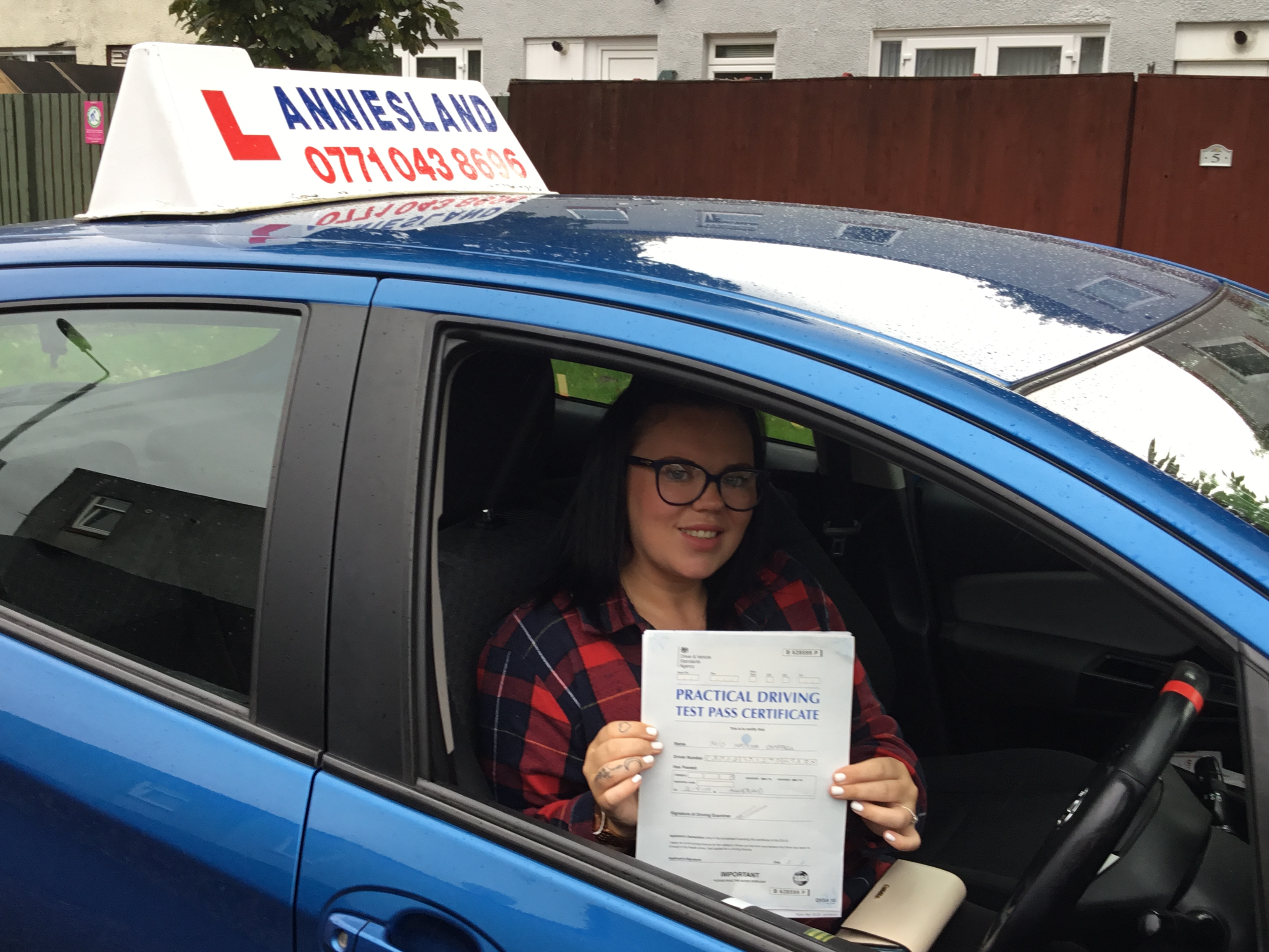 Natasha Campbell successfully passed their driving test with Anniesland Driving School