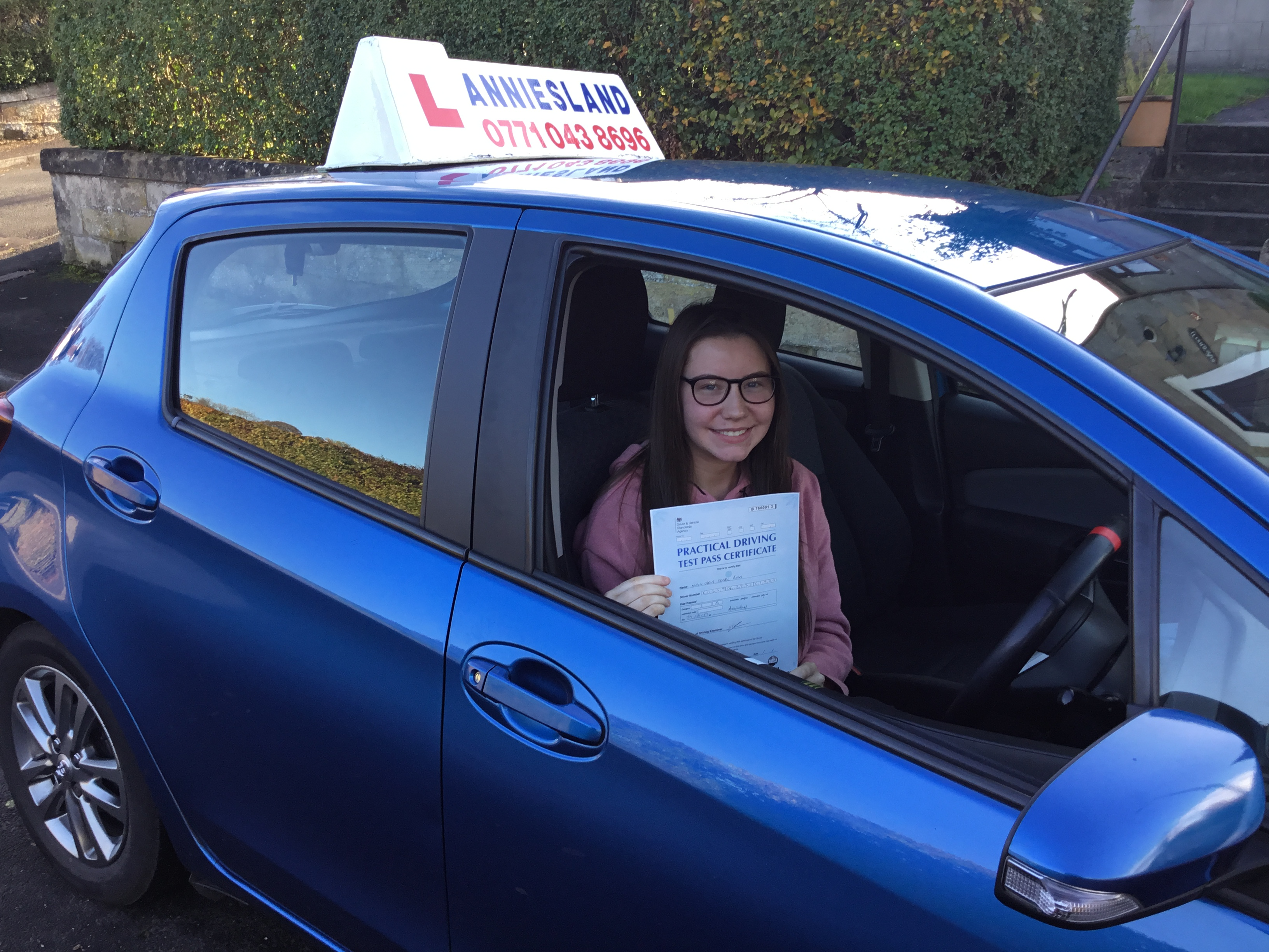 Carla Ross successfully passed their driving test with Anniesland Driving School