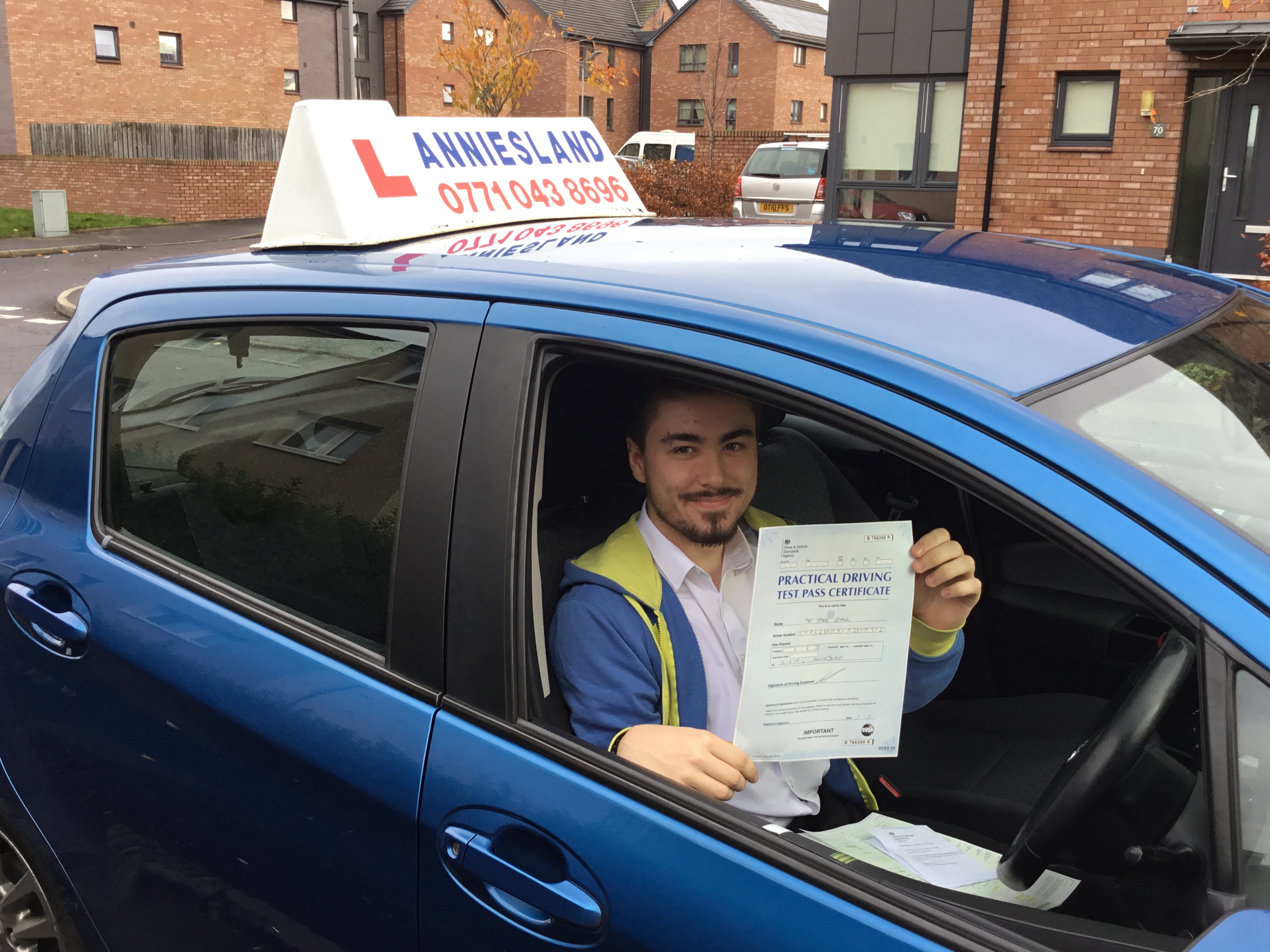 Jake Small  successfully passed their driving test with Anniesland Driving School