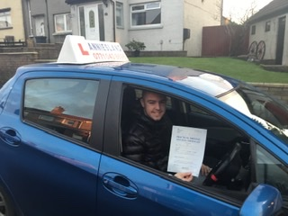 Daniel Malone successfully passed their driving test with Anniesland Driving School